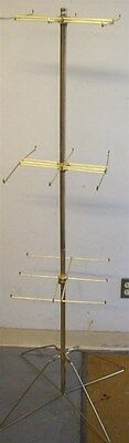 Store Display Fixtures FLOOR MODEL 3 LEVEL PEG SPINNER DISPLAY RACK GOLD