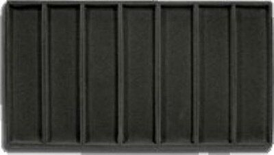 Jewelry Display Fixtures 2  NEW 7 COMPARTMENT FLOCKED WATCH TRAY BLACK