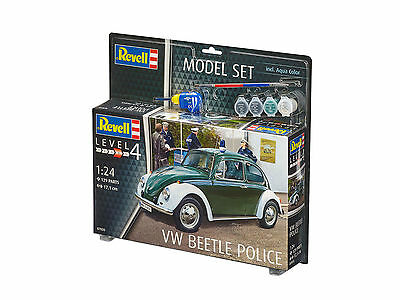 Revell - Model Set VW Beetle Police, Käfer, Neu, Ovp, 1:24, 67035