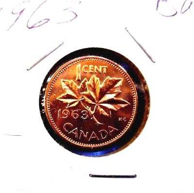 1963  Canada  Canadian Small  Cents  one cent  Penny Coin  BU Combined  Shipping