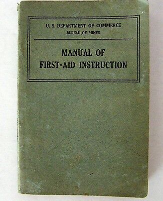 1930 Bureau Of Mines First Aid Booklet For Miners Real Photo Illustrations Rare