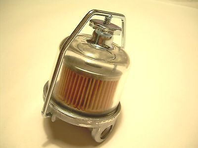 1955-1964 Chevy Impala Belair Biscayne Glass AC Fuel Filter Bowl Assembly GF48
