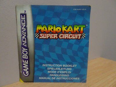 Mario Kart Super Circuit ...Instruction Book Only ~  NO BOX OR GAME INCLUDED!