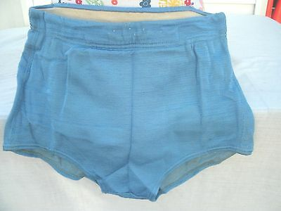 VINTAGE 1940-50's  Mens  Swim Suit by Gantner Coldfire--Glo Suit--Blue