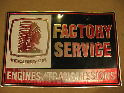 Tecumseh Engines Transmissions Metal Sign 2' X 3' Factory Service Man Cave