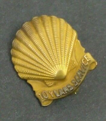 Rare Vintage 1940 Shell Gas Advertising 10 Years Service 10K Gold Pin