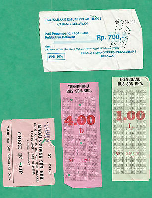 Lot 5 Ticket  Bus Autobus Indonesie Ferry