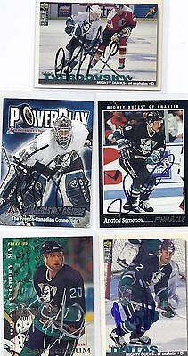 2001 Adrenaline #1 J.S. Giguere Anaheim Ducks Signed Autographed Card