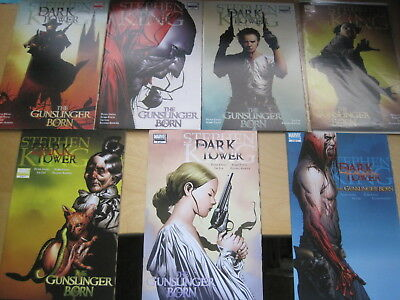 "STEPHEN KING : DARK TOWER : ""The GUNSLINGER BORN"" complete 7 issue series.MARVEL"