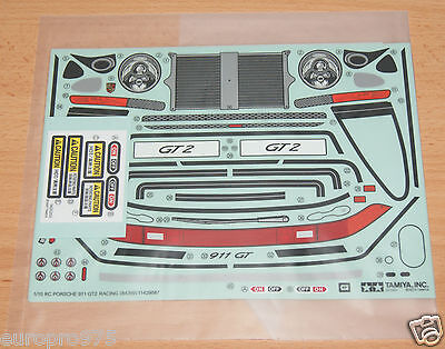 Tamiya 84399 Porsche 911 GT2 Racing/TA02SW, 9495841/19495841 Decals/Stickers NIP