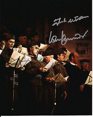 IAN LAVENDER & FRANK WILLIAMS Dad's Army Original Signed Autograph 8x10 Photo 3