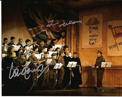 IAN LAVENDER & FRANK WILLIAMS Dad's Army Original Signed Autograph 8x10 Photo 4