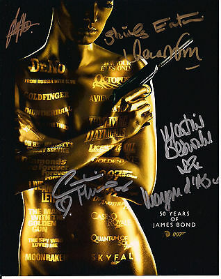 JAMES BOND Original Hand Signed Autograph 8x10 Photo James Bond 007 Bond Girls 3