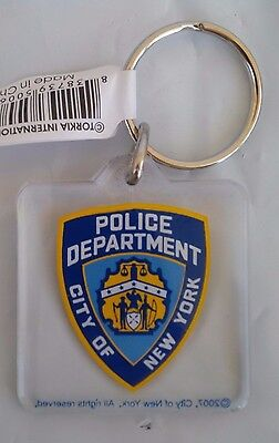 Nypd City Of New York Police Department Plastic Square Key Chain Fob Souvenir