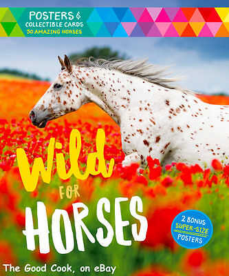Wild For Horses  Poster Collectible Cards 2 Bonus Super Size Posters Book  New