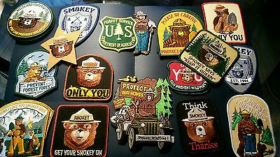 Sale... Collection Of 16  Forest Service , Smokey Bear Patches .