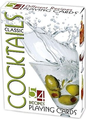Classic Cocktail Recipes set of 52 playing cards (ix)