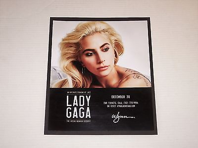 """Lady Gaga Live Las Vegas Concert 13""""x11"""" Matted Promo Ad/Poster NEW RARE!"""