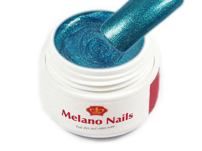 Glitter Fine Color UV Gel Made in Germany 5ml Sea Blue