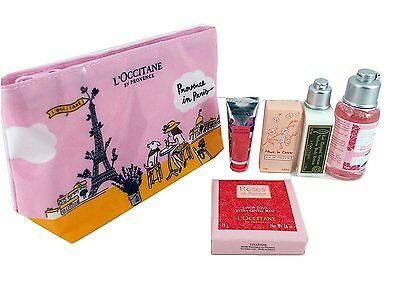 L'OCCITANE Provence in Paris 6pc Travel PINK Gift Set Mother's Day Birthday