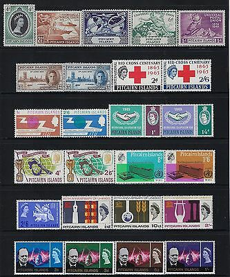 PITCAIRN (BRITISH) 1946-1966 Common Design Sets & Singles  COMPLETE  MINT/NH FOG