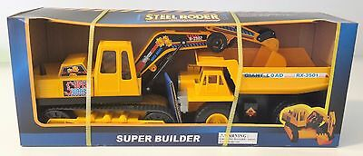 New Steel Roder Super Builder Set With Giant Dump Truck And Digger 39251