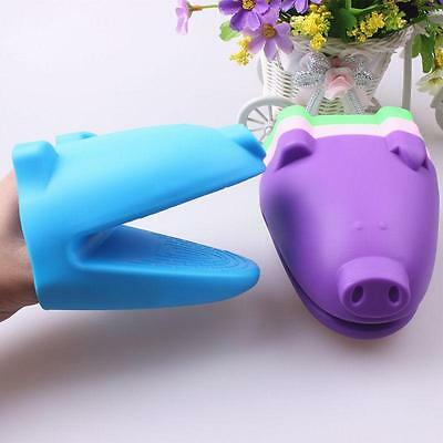 Piggy Silicone Oven Mitt MicroWave Baking Heat Proof Glove Kitchen Cooking SG