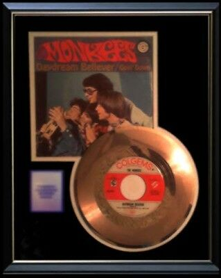 The Monkees Gold Record Daydream Believer Rare Disc 45 Rpm