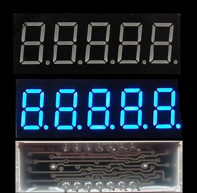 2PCS 0.36 inch 5 digit led display 7 seg segment Common Cathode Blue