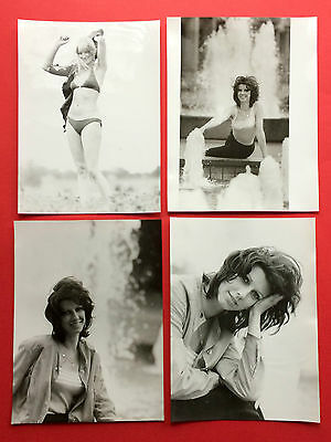 4 x Original Gross Foto DDR Model Frau im Bikini Portrait Mode   ( F15754