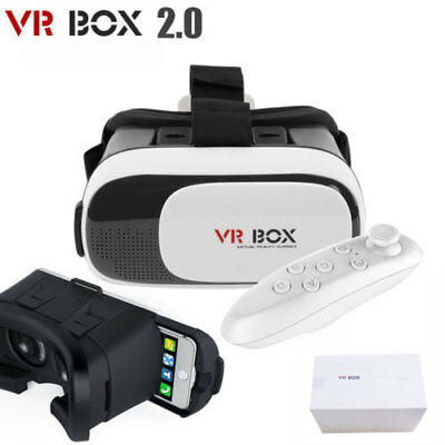 VR VISION Virtual Reality Headset 3D Glasses Google Android iOS Bluetooth Remote
