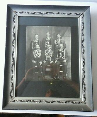 Vintage Independent Order of Odd Fellows Group Portrait Photo Canton NY IOOF