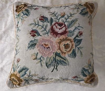 """Tapestry Cushion - Roses 15"""""""