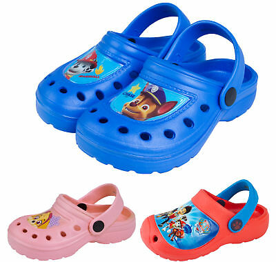 Paw Patrol Clogs Boys Girls Beach Sandals Flat Shoes Mules Kids Chase Skye Size