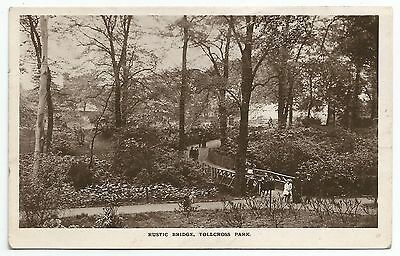 POSTCARD-SCOTLAND-GLASGOW-RP. The Rustic Bridge, Tollcross Park.