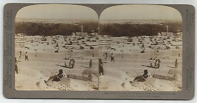 STEREOSCOPIC PHOTOGRAPH-DAMASCUS. Damascus and It's Gardens from The North West