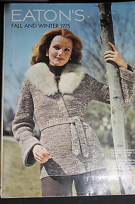 Eatons Fall & Winter 1975 Catalog Fashion From The 70's Very Good Condition Book