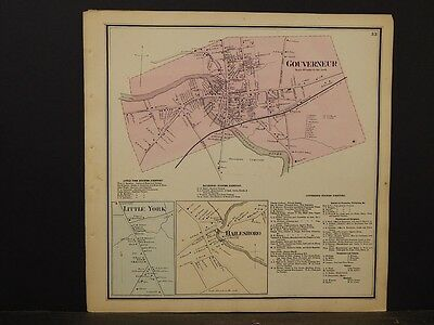New York, St. Lawrence County Map,Gouverneur Little York, Hailesboro 1865  Y5#38