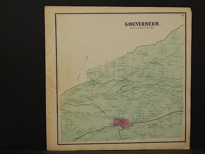 New York, St. Lawrence County Map, Gouverneur Township 1865  Y5#56