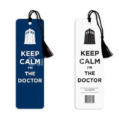 """Doctor Who Keep Calm I'm The Doctor 2 1/4"""" x 7 1/8"""" Bookmark 2013, MINT SEALED"""