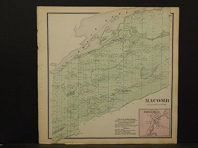 New York, St. Lawrence County Map, Macomb Township 1865  Y5#60