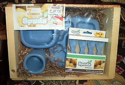 Non-Toxic Child's Sprout Dinnerware Set Spuds Inc Made From Reclaimed Potato NWT