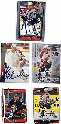 1998 UD #231 Andrew Cassels Flames Signed Autographed Card