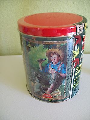 Coca Cola Puzzle Tin Norman Rockwell Puzzle 1998 Boy Fishing w/ Dog New Sealed