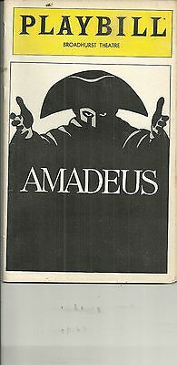 Playbill Amadeus Ian McKellan Tim Curry Jane Seymour BroadhurstTheatre Jan 1981