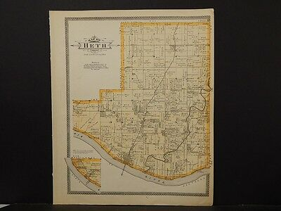 Indiana, Harrison County Map,Boone Township, 1906  Dbl. Pg. Reversible  K4#72