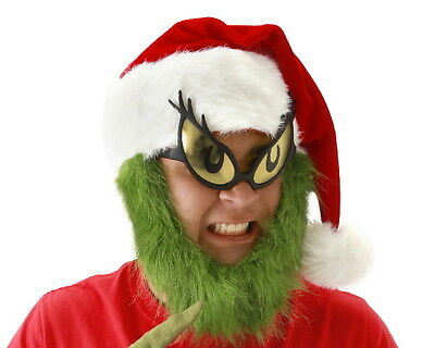 Dr. Seuss How The Grinch Stole Christmas Grinch Costume Eyes Glasses, NEW UNWORN