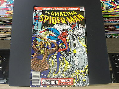 THE AMAZING SPIDER-MAN #165 Original Feb 1976 Comic Book Marvel Dinosaur Man