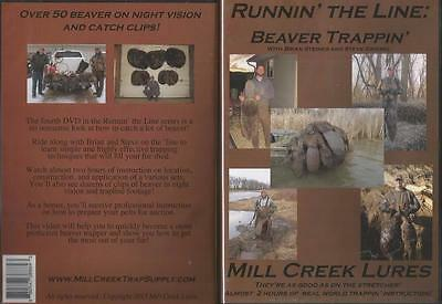 Beaver Trapping Instruction Runnin' The Line Beaver Trappin' 2 hours DVD NEW
