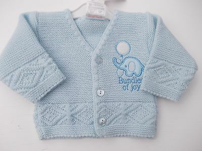 BNWT Baby Tiny Prem Premature Preemie girls elephant knitted cardigan clothes